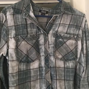 Green Acid Wash Flannel